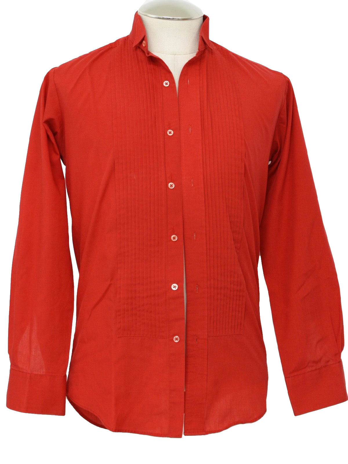 Retro 1980s Shirt: 80s -Classic- Mens red polyester cotton ...
