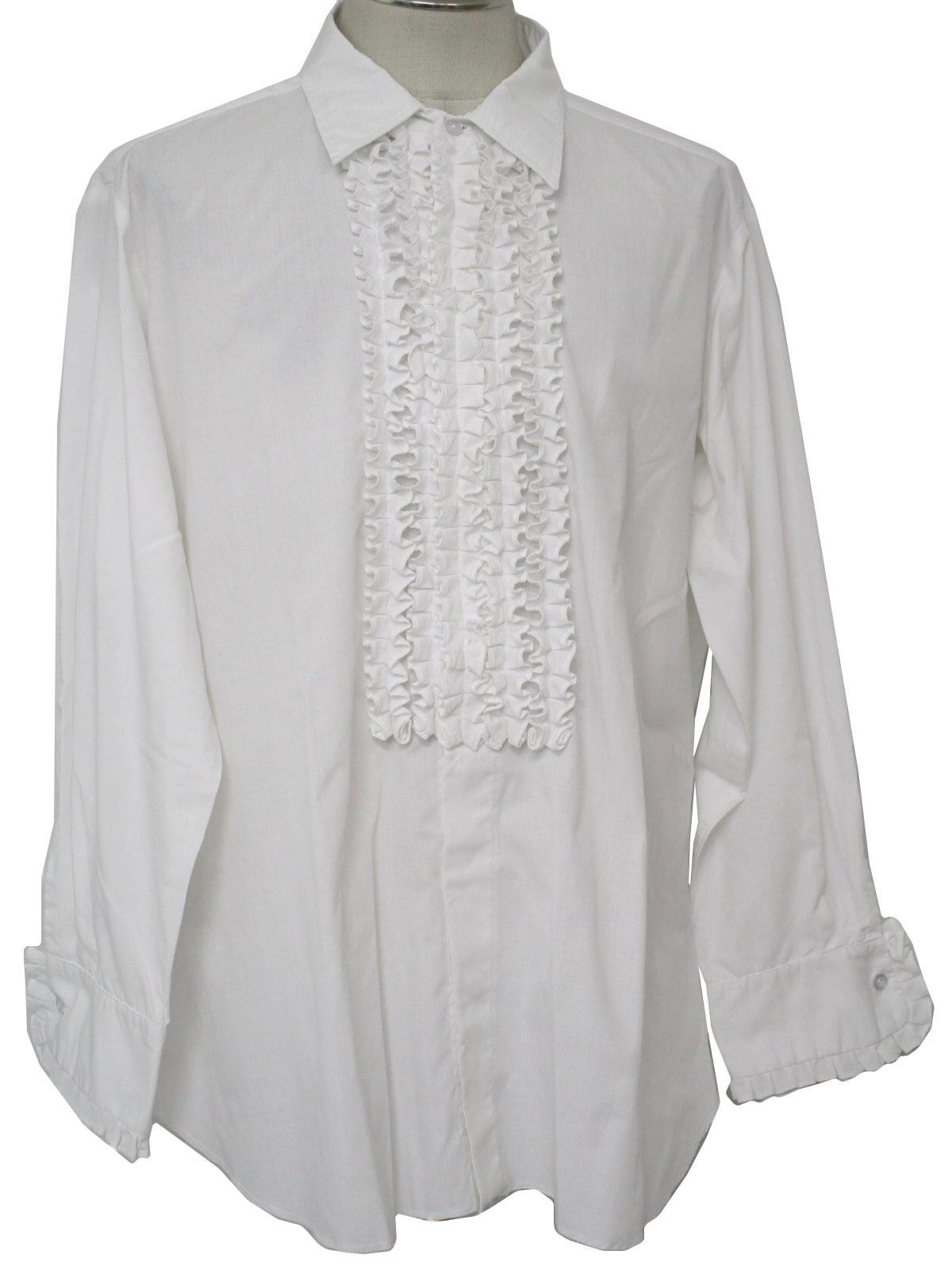 Ruffled Tuxedo T-shirt Tuxedo Shirt With Ruffled