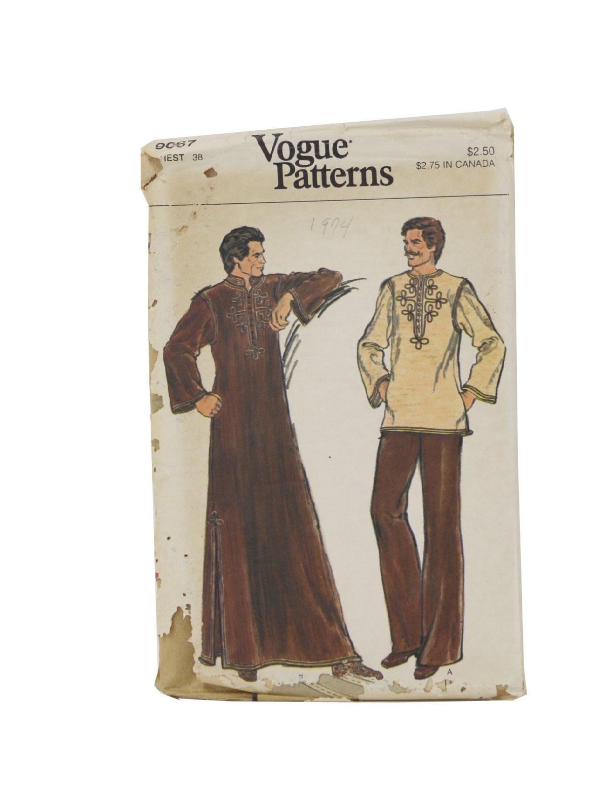 Vogue Pattern no. 9067 Seventies Vintage Sewing Pattern: 70s -Vogue ...