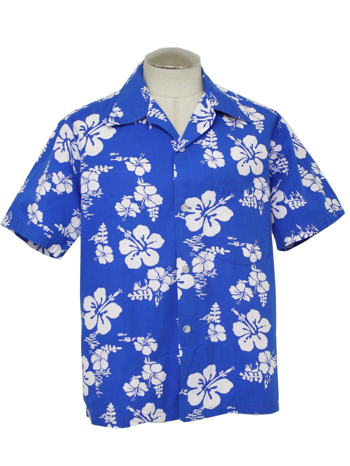 10dc23a7 Ui Maikai Sixties Vintage Hawaiian Shirt: 60s -Ui Maikai- Mens blue ...