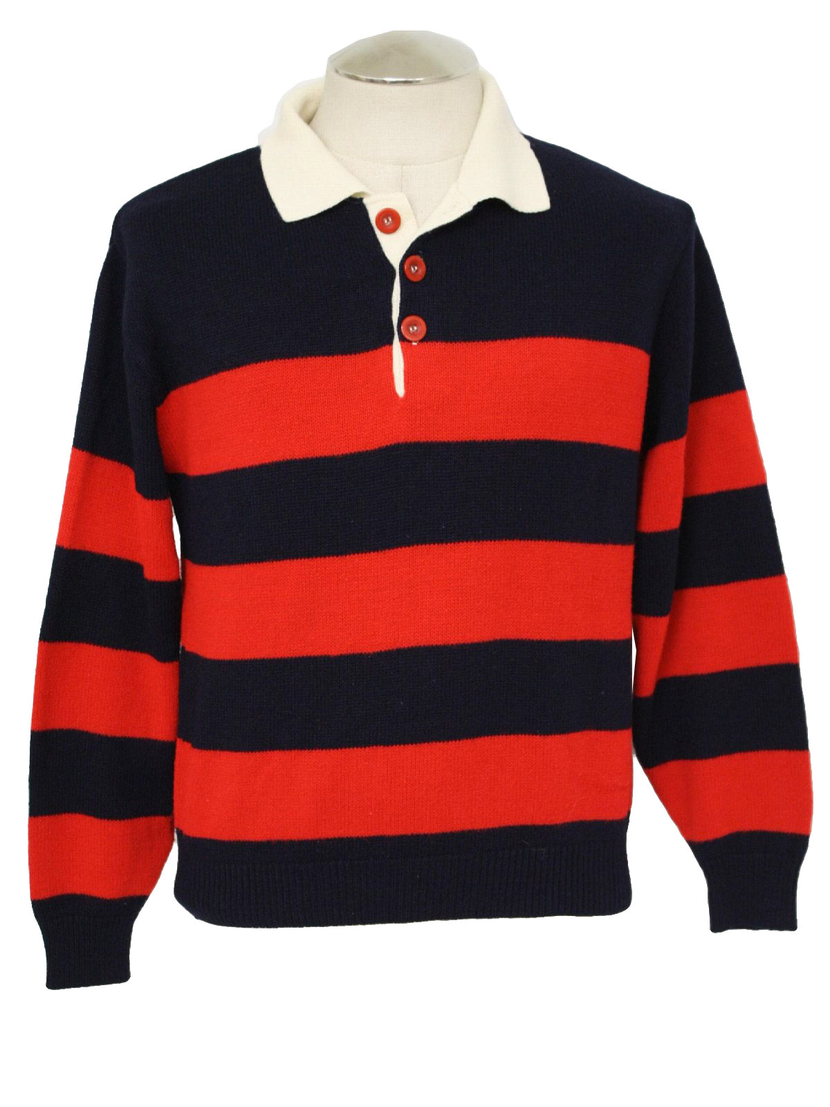 Seventies Scudder Shirt 80s Scudder Mens Midnight Blue Red And