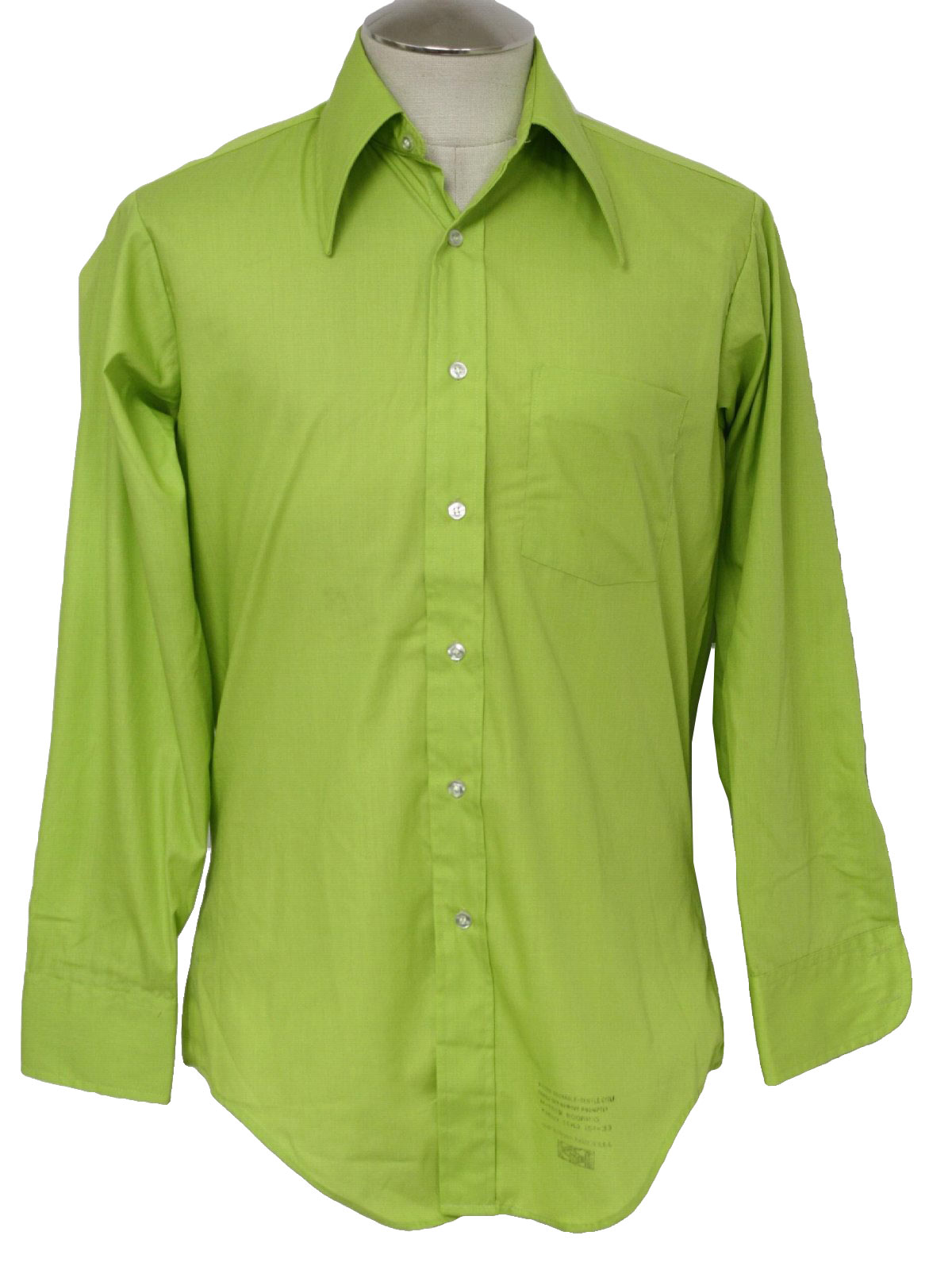 Retro 70s shirt arrow 70s arrow mens lime green for Neon green shirts for men