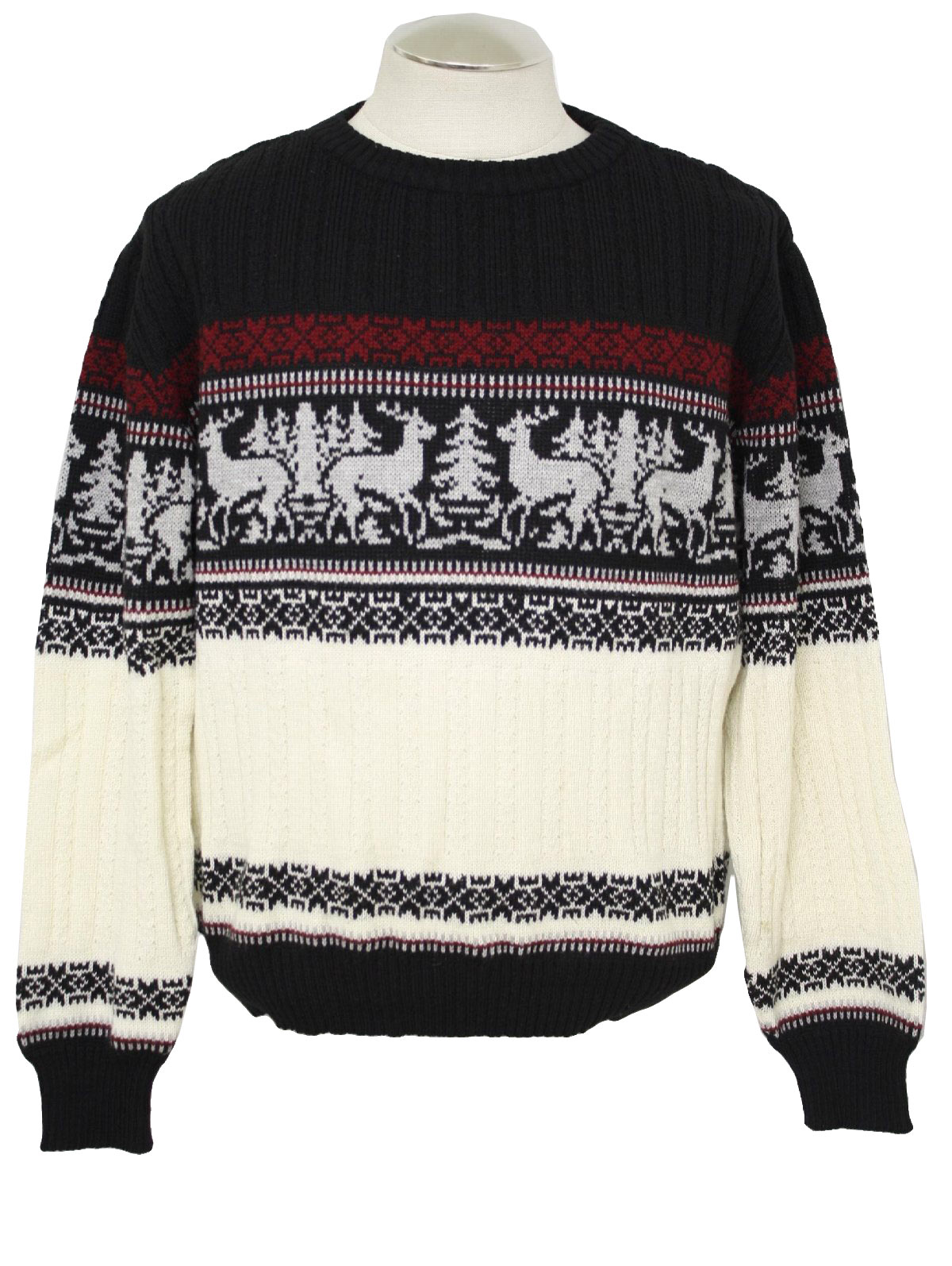 1980's Mens Christmas Style Ski Sweater: 80s vintage -Hardwood and ...