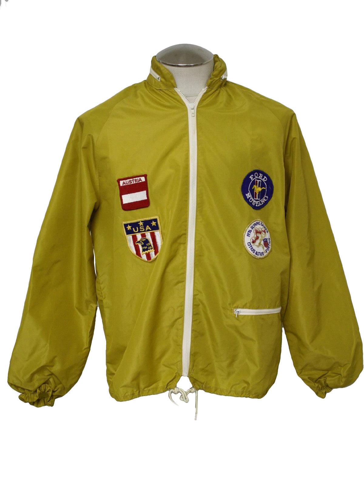 1970's Rainbow Sportswear Mens Mod Racing Jacket