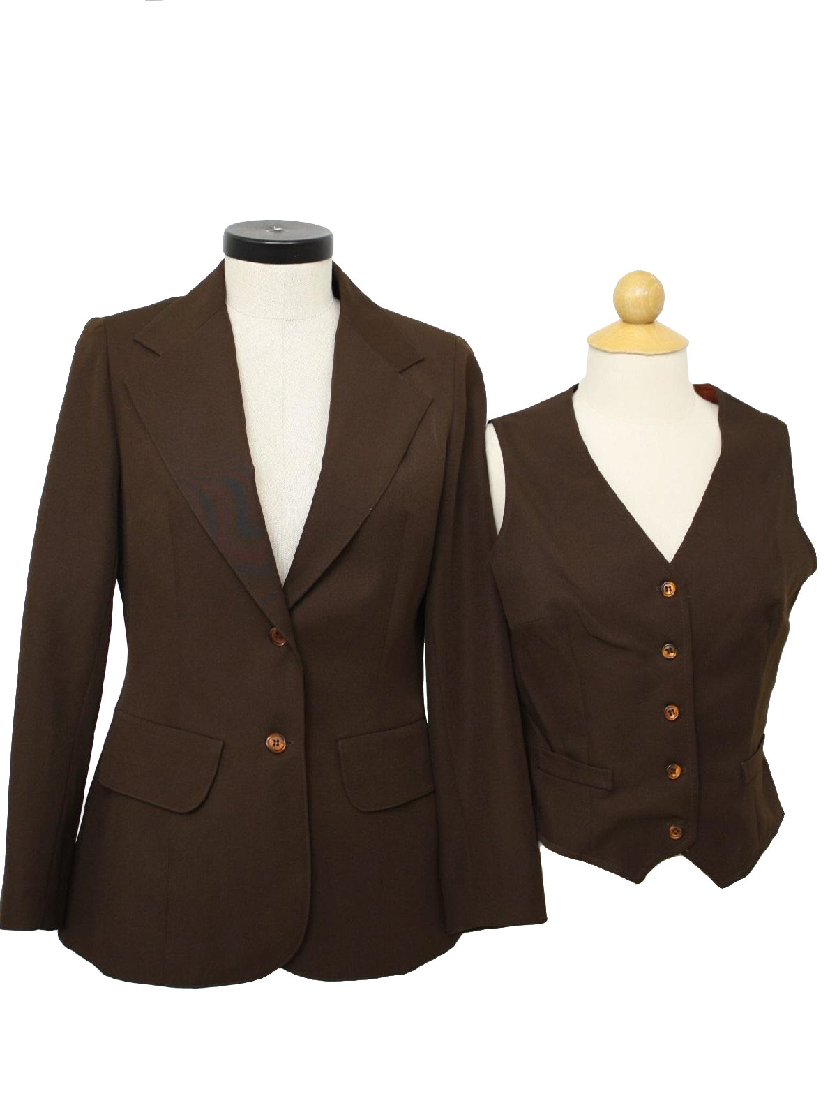 Retro Seventies Jacket: 70s -Suits Galore- Womens nut brown ...