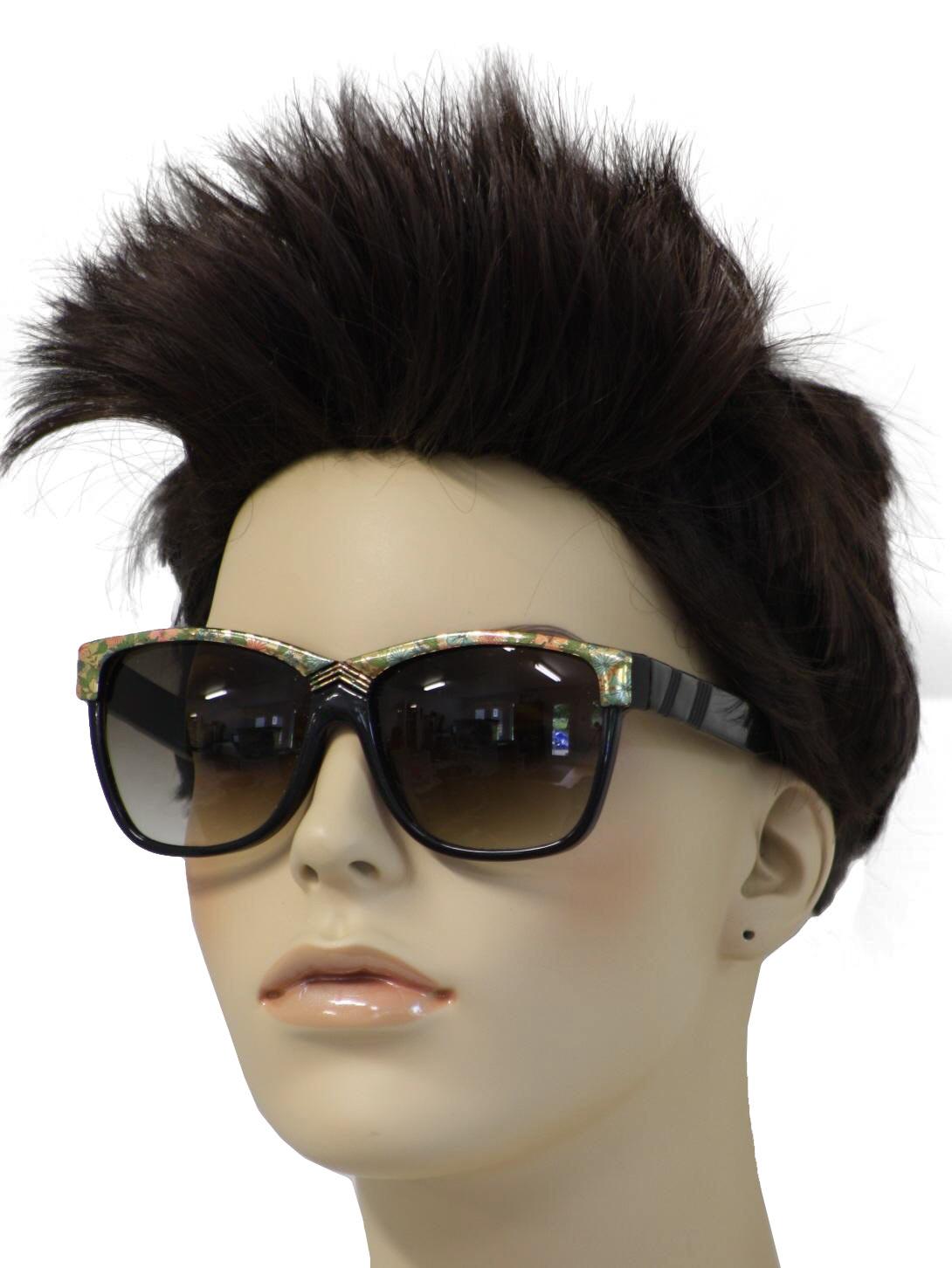 74a0d57b32d ... Glasses 80s Missing Mark Womens black square plastic frame