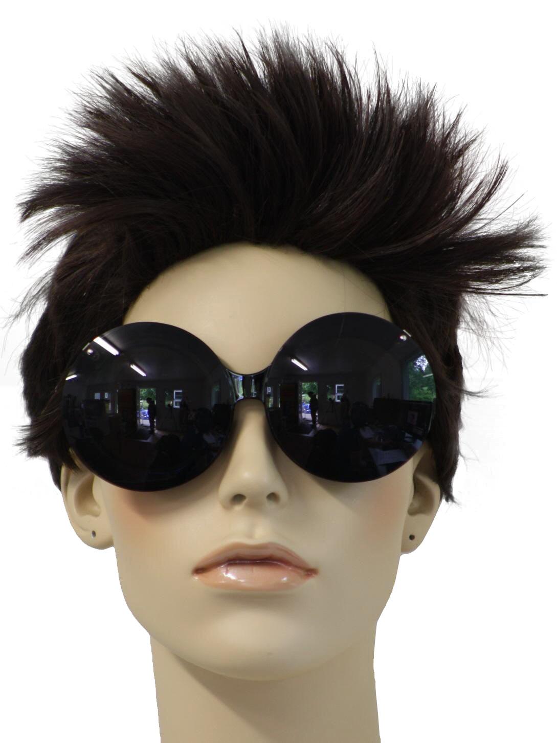 1980 s Retro Glasses  80s -Kiss- Womens black thick plastic frame ... 31dcef0a2
