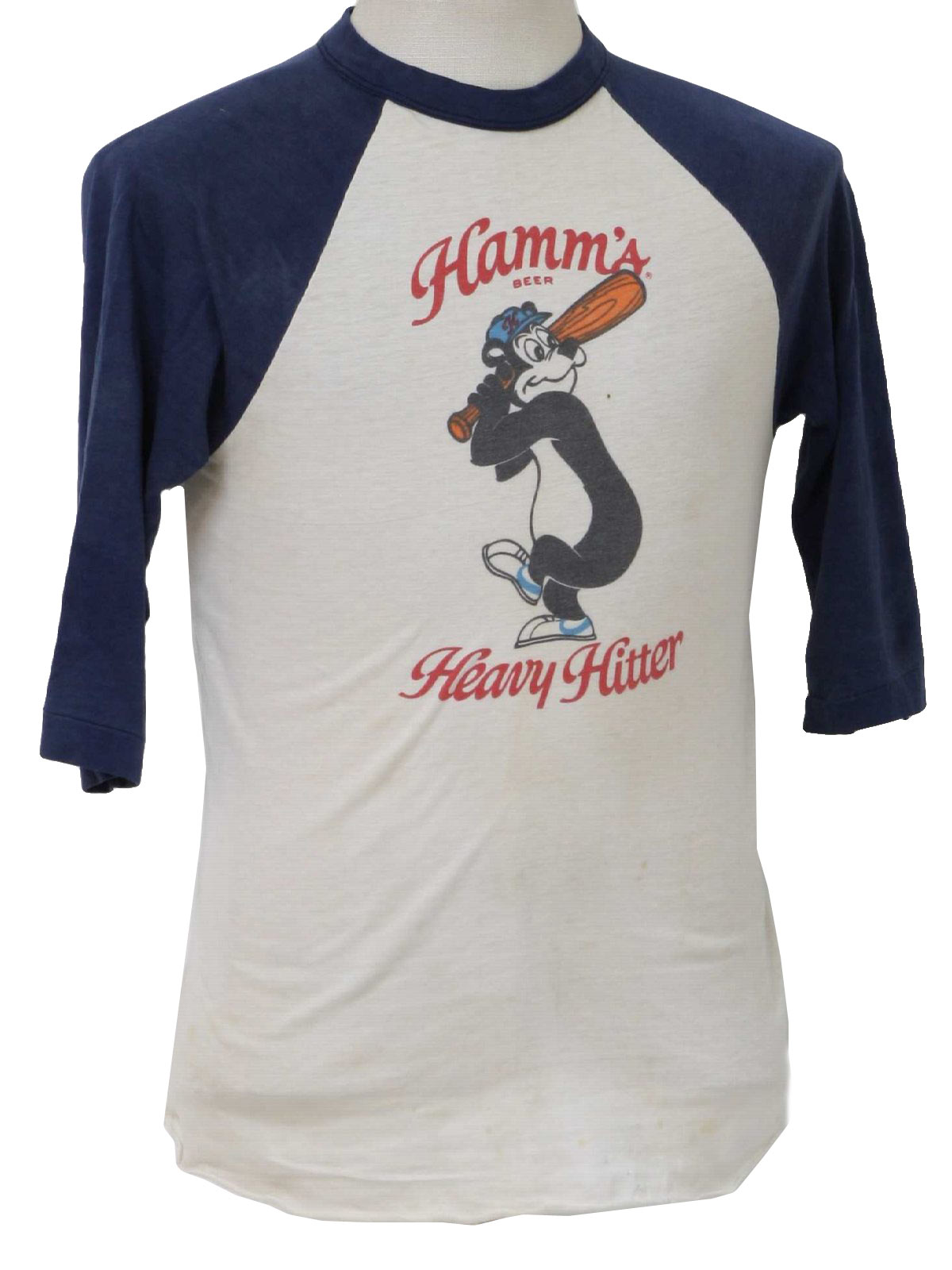1970 S Vintage Us T Shirt 70s Us Mens Off White Blue