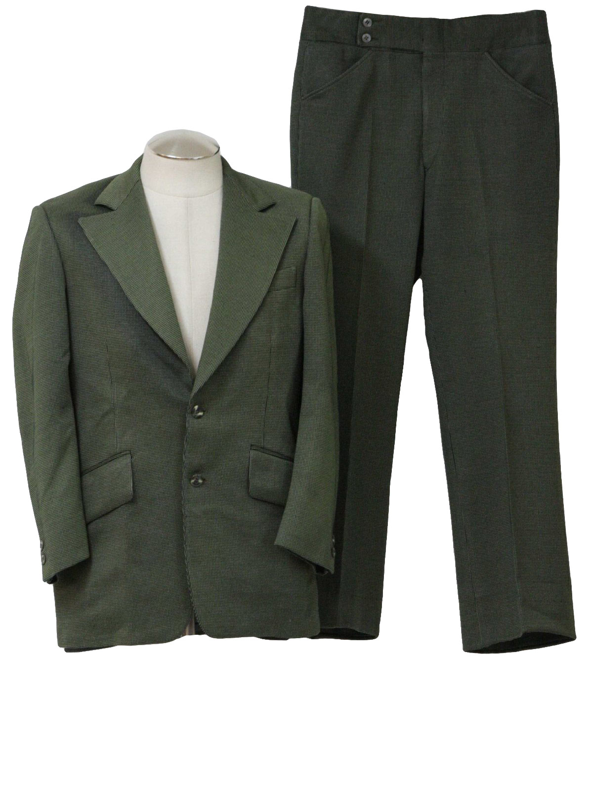Mens Dark Green Suit 60s Lonbrook Mens Dark Green