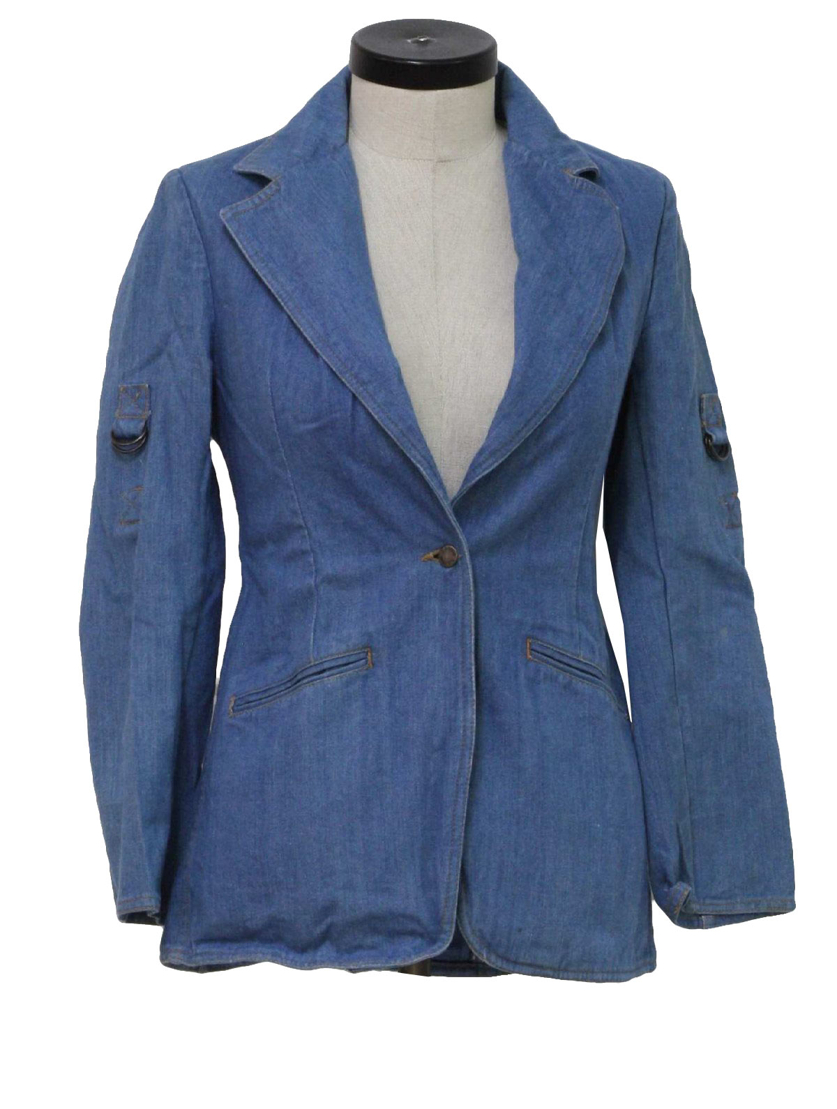 1980's Retro Jacket: 80s -L Avion- Womens blue denim jacket ...