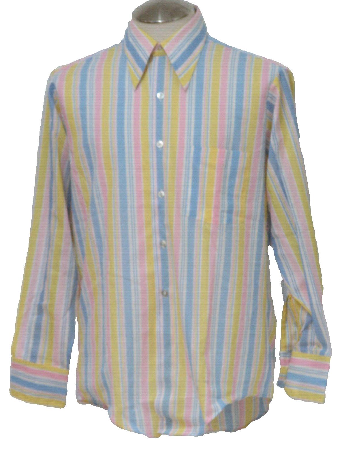 Carson firie scott 1970s vintage shirt 70s carson firie for Blue and yellow dress shirt