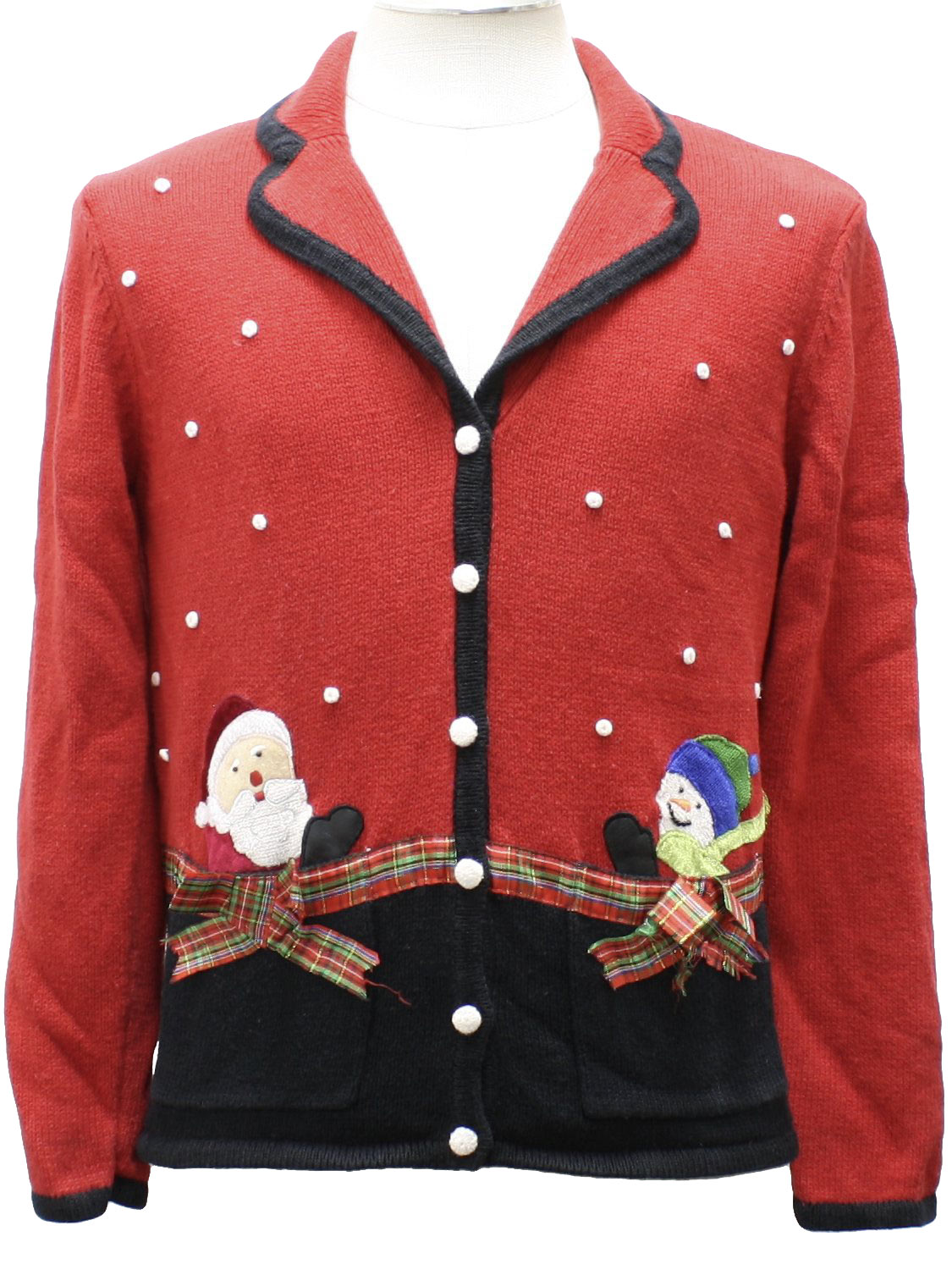 Womens ugly christmas sweater studio womens red for Over the top ugly christmas sweaters