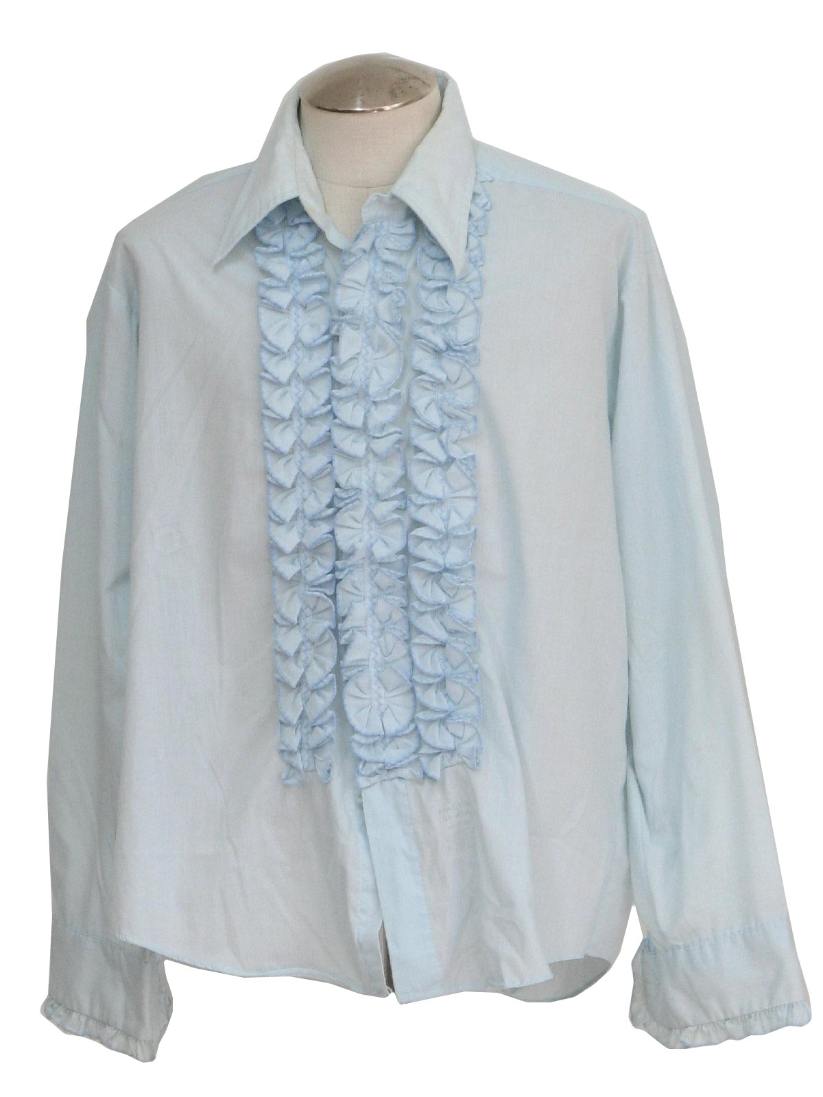 Vintage lion of troy 70 39 s shirt 70s lion of troy mens for Powder blue tuxedo shirt