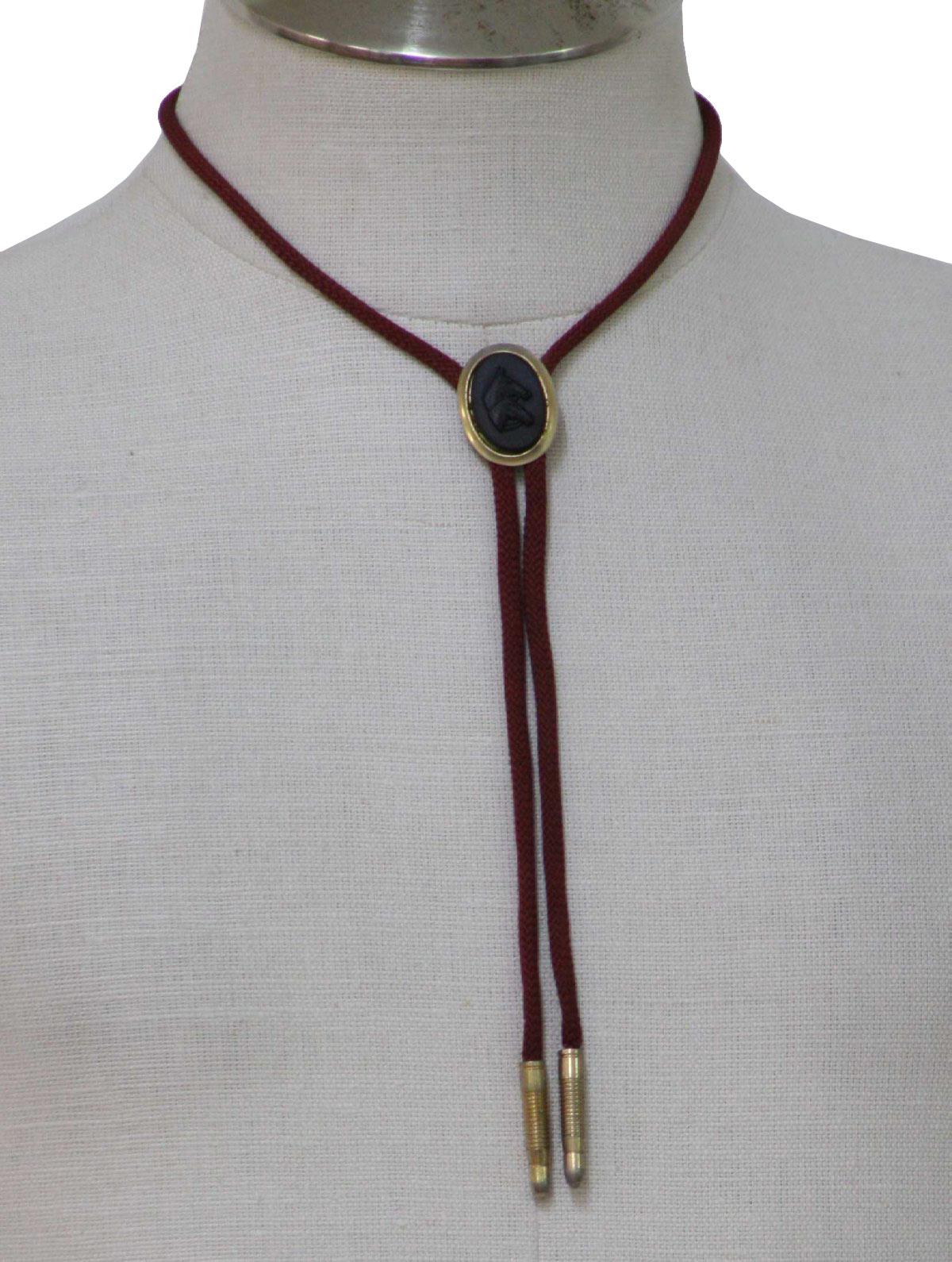 retro 1970s neck tie 70s missing mens wine bolo