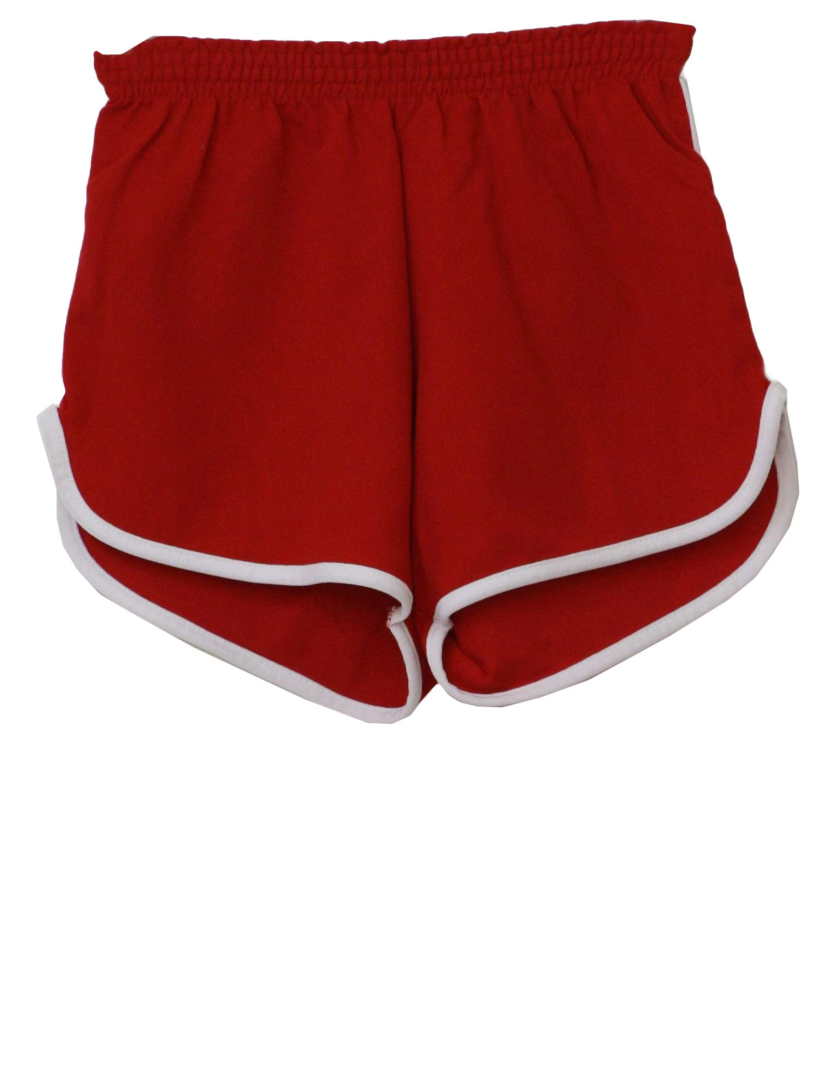 1980s Vintage Shorts: 80s -National Gym Wear- Mens red and white ...