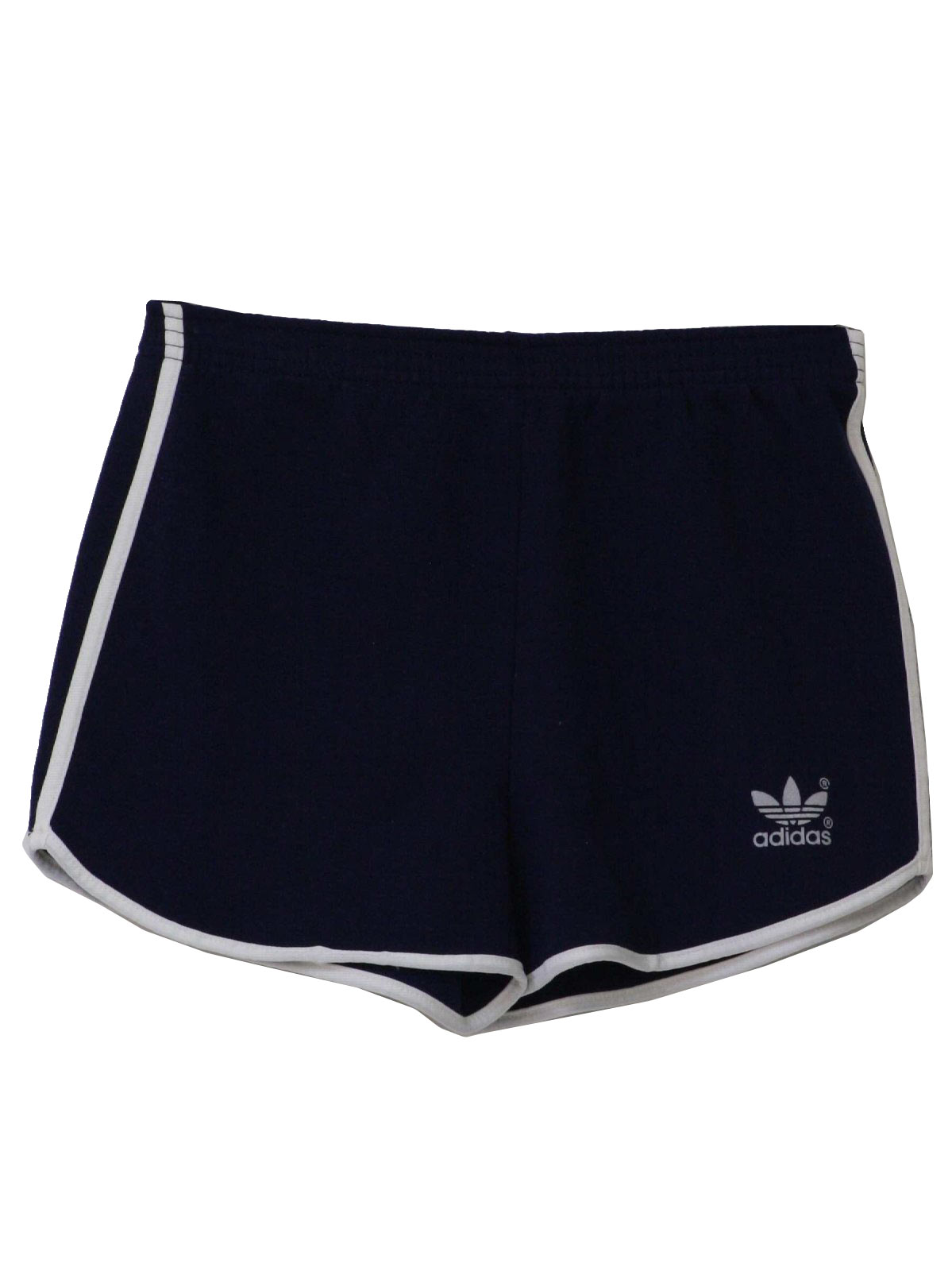 80s Retro Shorts: 80s -Adidas- Mens blue polyester and cotton high ...