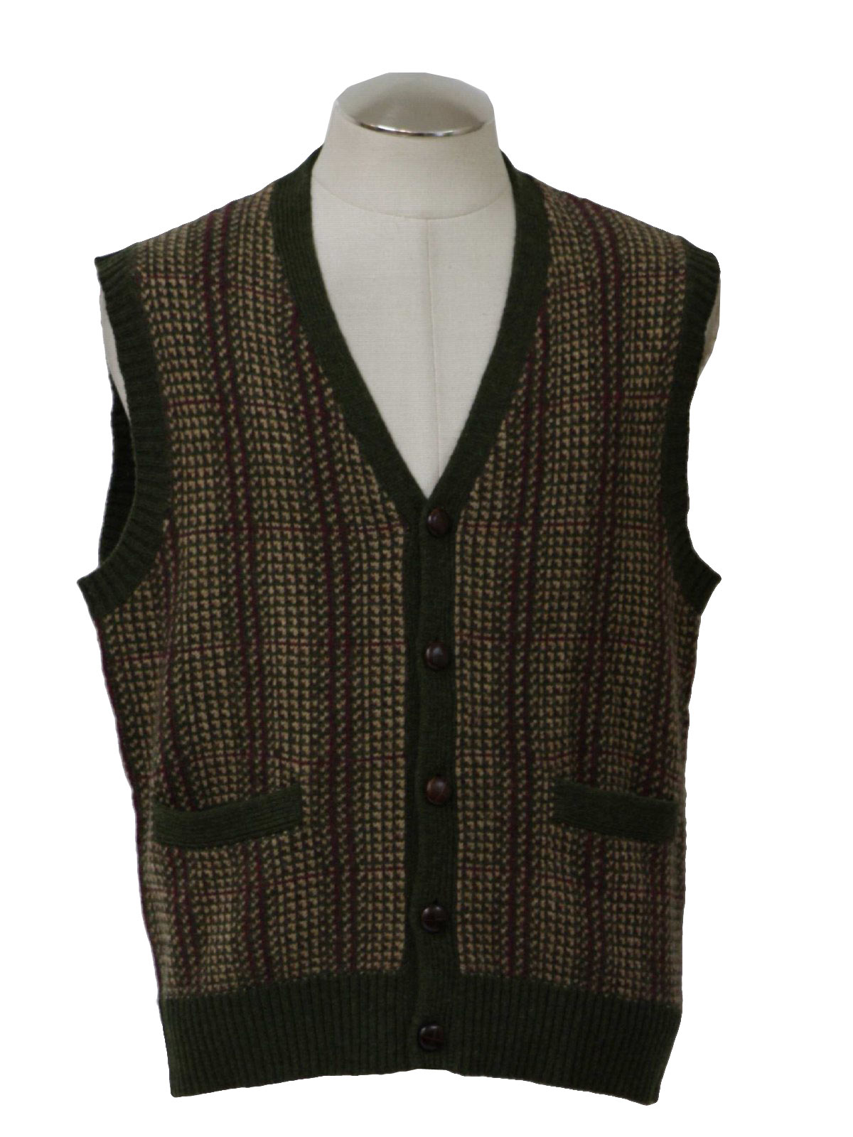 Button Sweater Vests For Men - Gray Cardigan Sweater