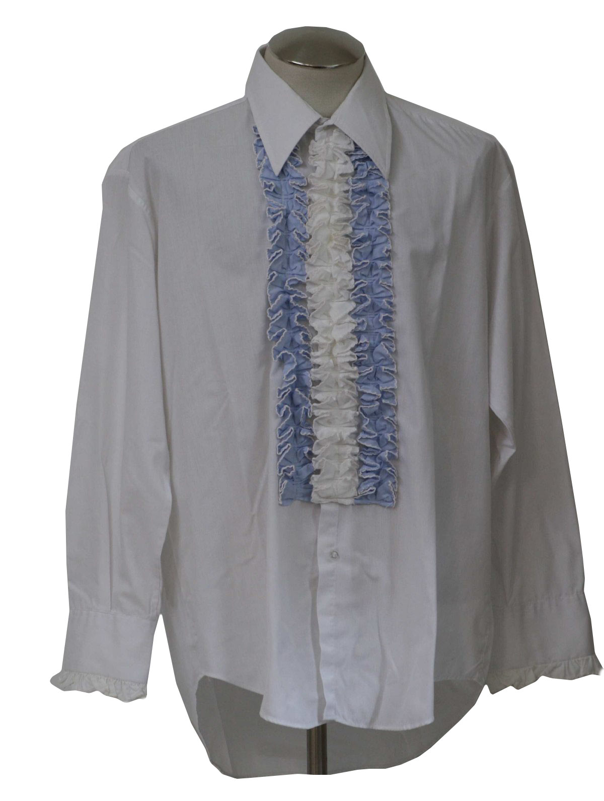 1970s After Six Shirt 70s After Six Mens White And