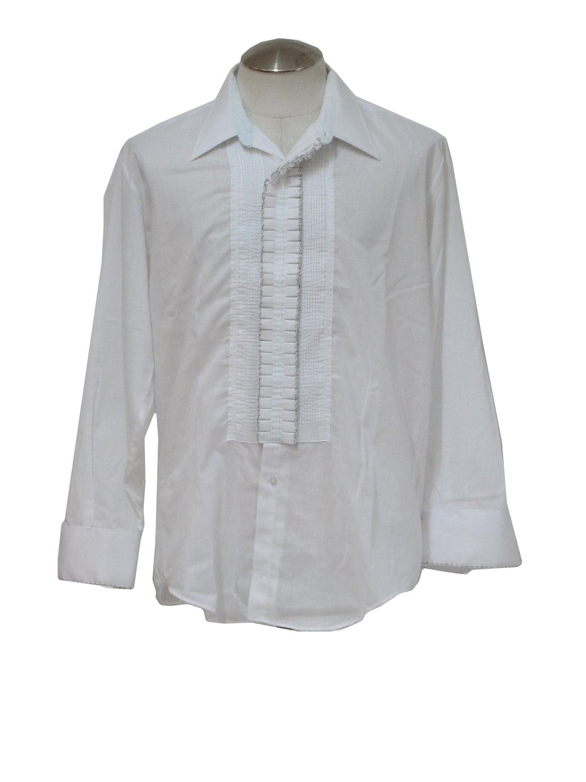 Vintage 1970 39 S Shirt 70s After Six Mens White Sheer
