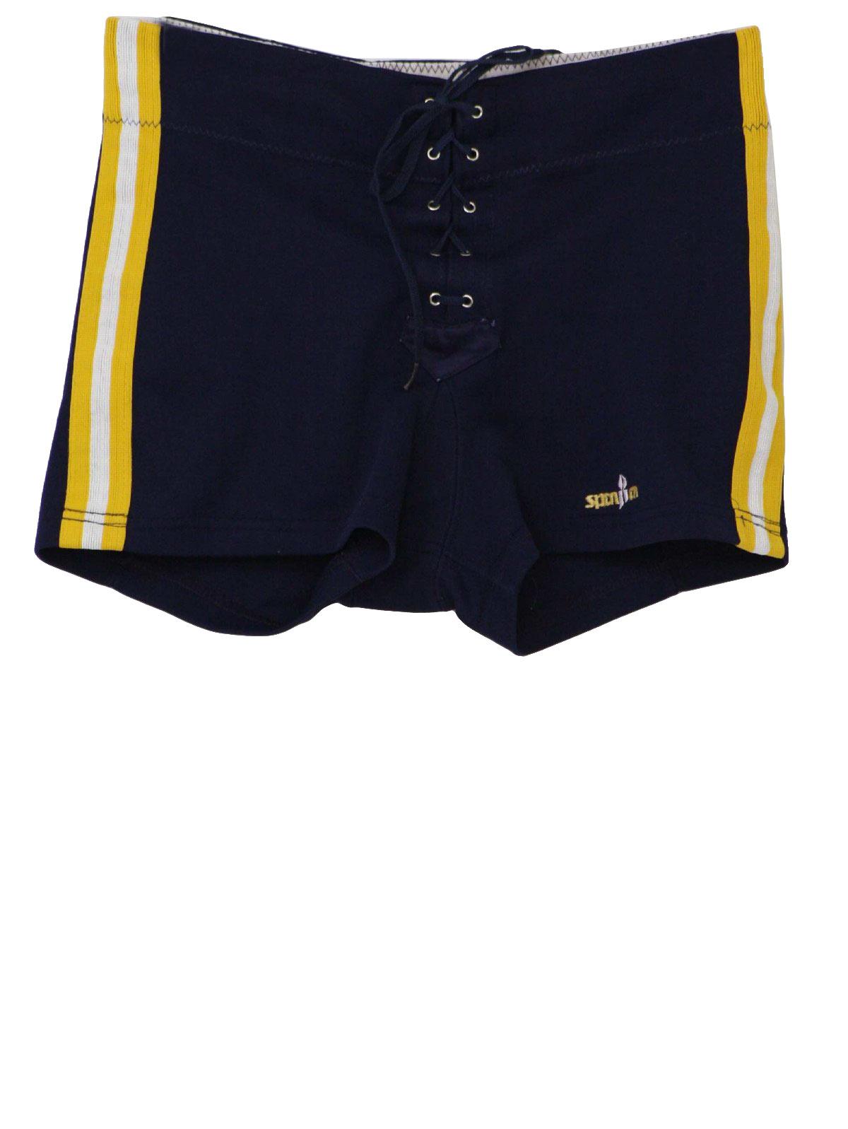 1980 S Vintage Spanjan Shorts 80s Spanjan Mens Blue