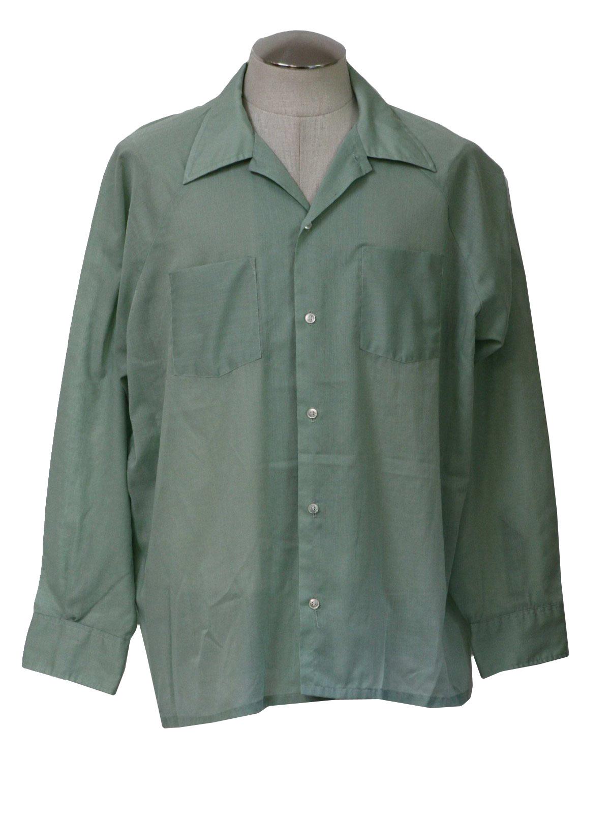 70s retro shirt early 70s career club mens celedon for Sports shirts near me