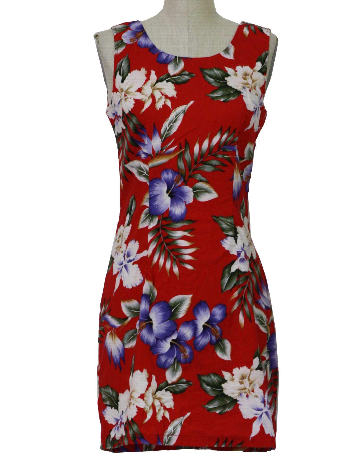 67fe8a440254 1990's Hawaiian Dress (Kys international fashion): 90s -Kys ...