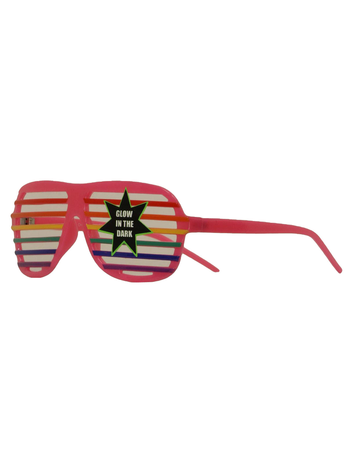 f7c25aba89 80 s Vintage Glasses  80s style -Glow In the Dark- Unisex plastic glow in  the dark totall 80s shutter shades glasses with PINK frame and red