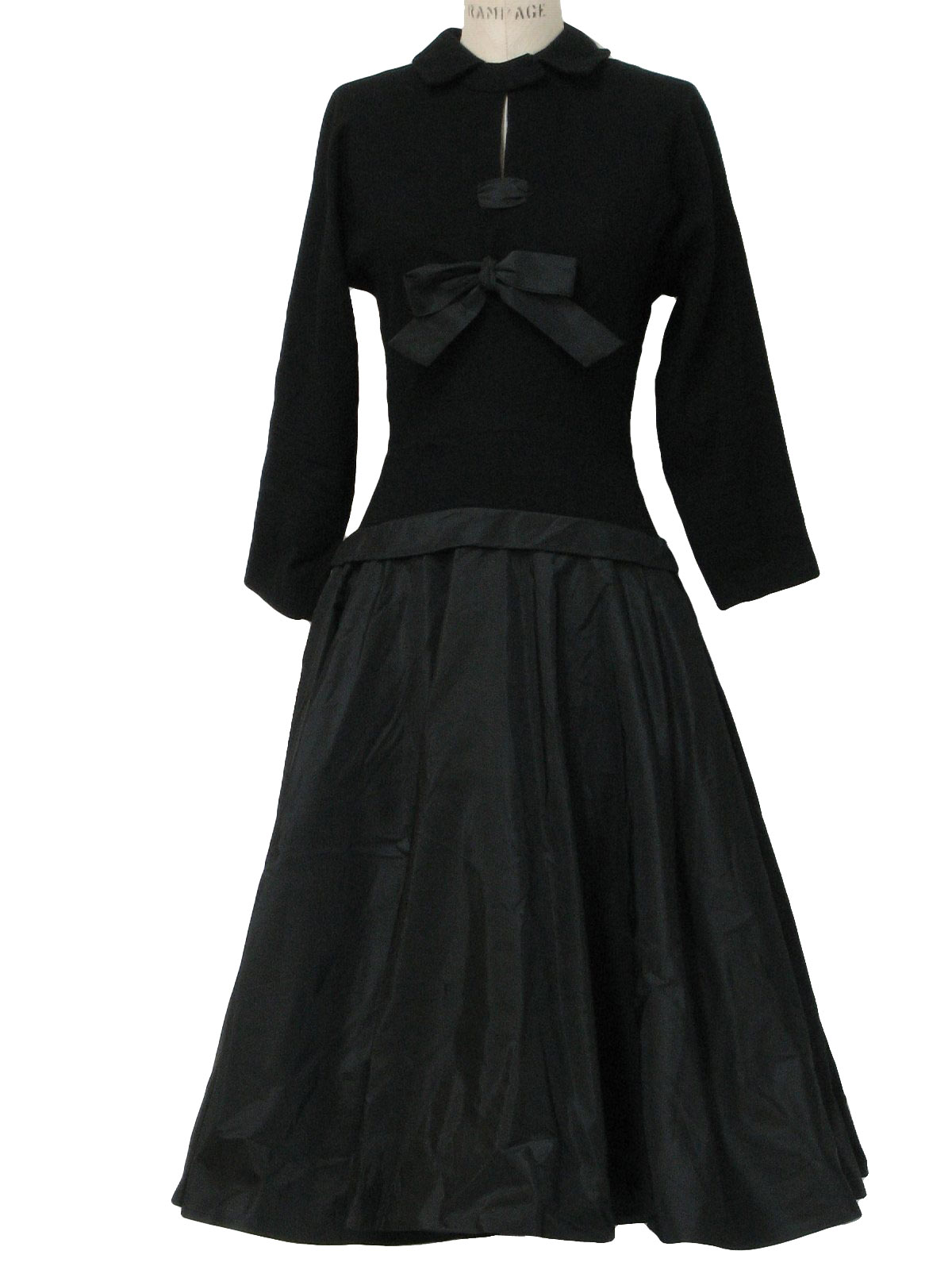 Vintage Roos Bros California Designer 40\'s Cocktail Dress: 40s -Roos ...