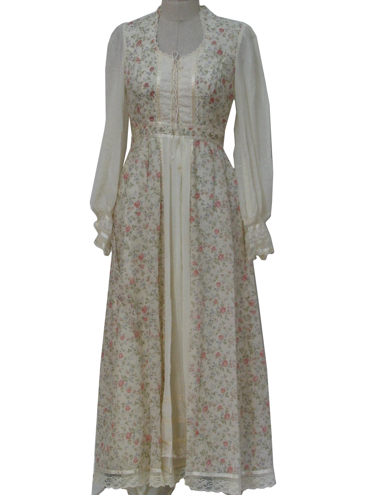 1970 S Hippie Dress Gunne Sax By Jessica 70s Gunne Sax