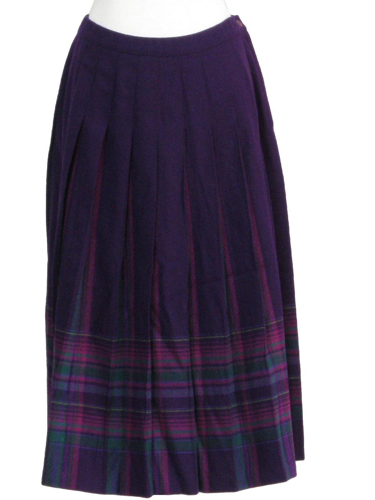 3f892938a6 Pendleton Seventies Vintage Plaid Skirt: 70s -Pendleton- Womens ...