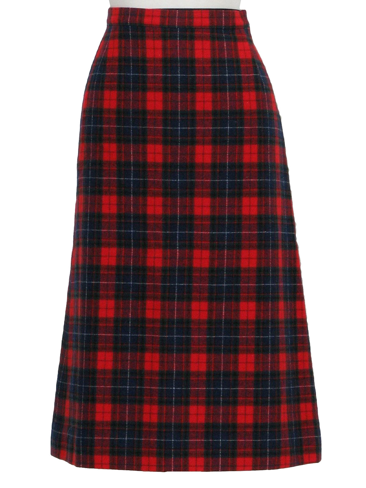 Seventies Pendleton Plaid Skirt 70s Pendleton Womens