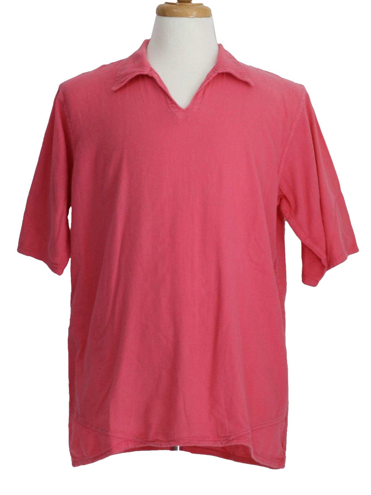 Retro 80's Hippie Shirt: 80s -El Huarache- Mens hot pink short ...