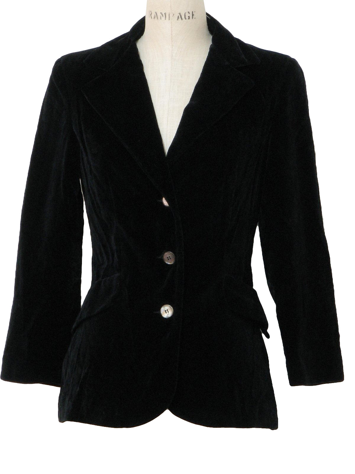 Womens Black Blazer Jacket Photo Album - Reikian