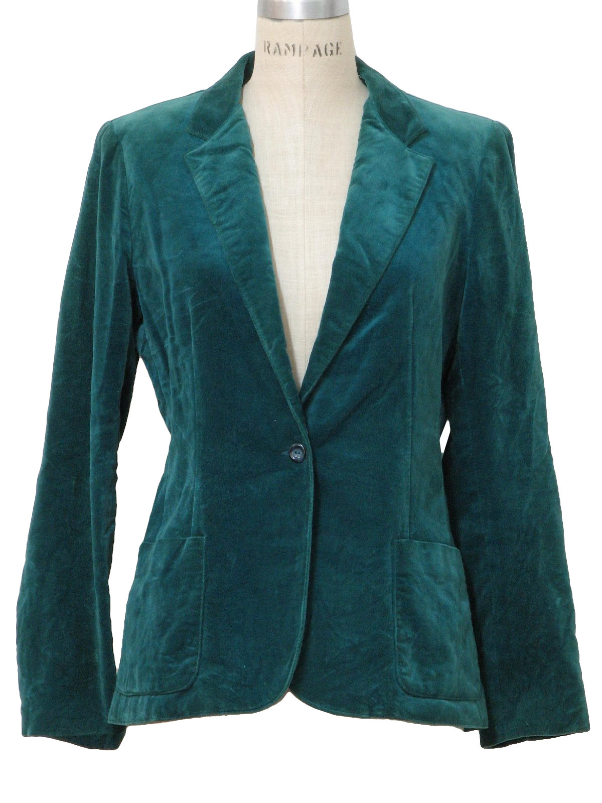1980 S Retro Jacket 80s Dana Point Womens Teal Blue