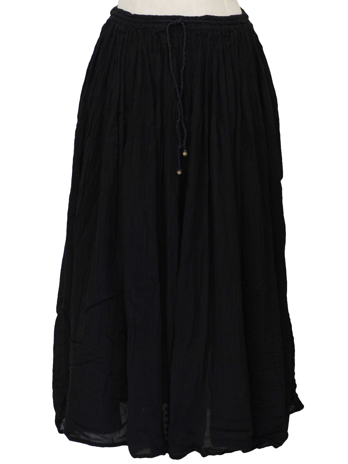Black Broomstick Skirt 63