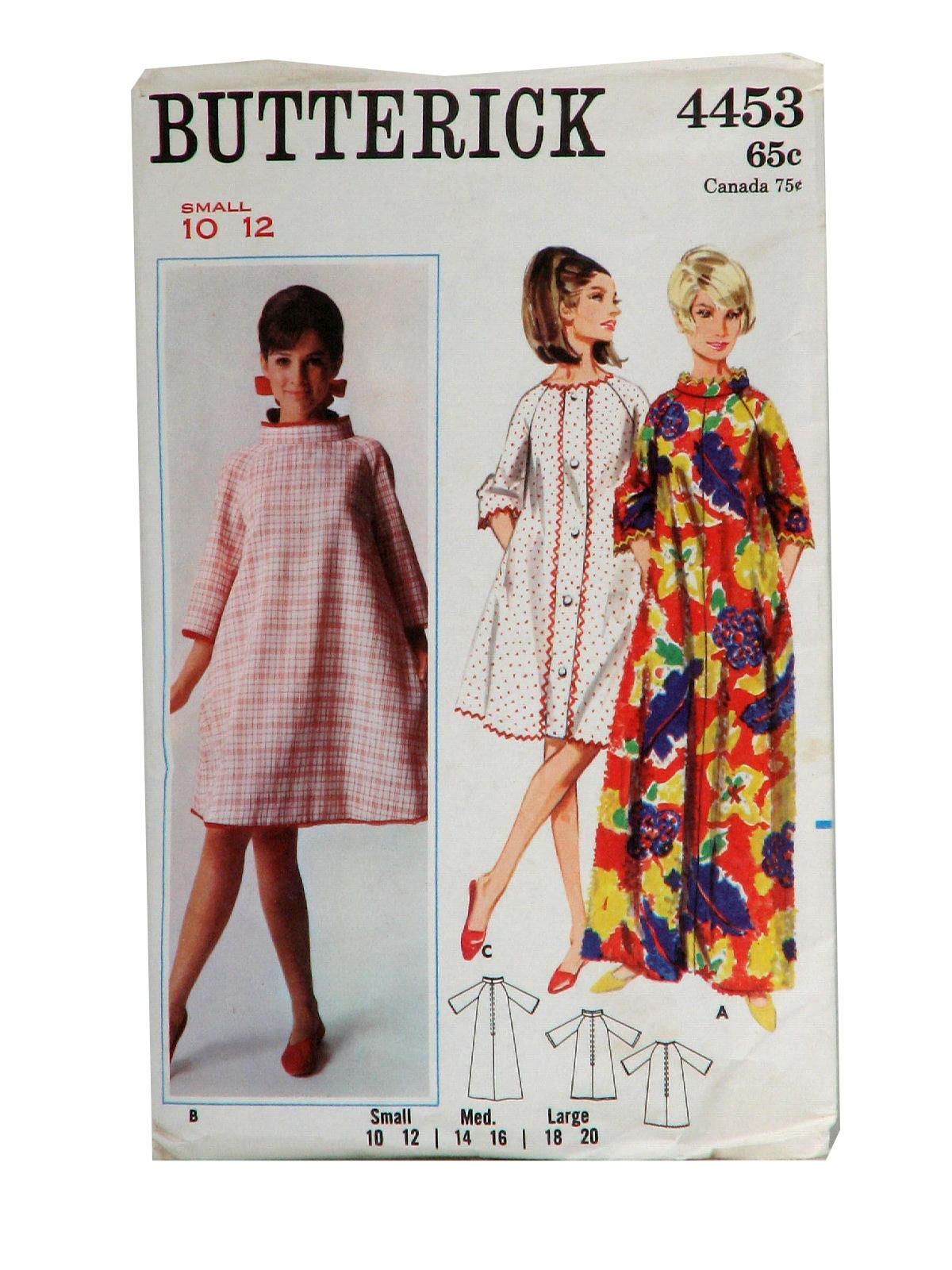 60s Vintage Butterick Pattern No 4453 Sewing Pattern C