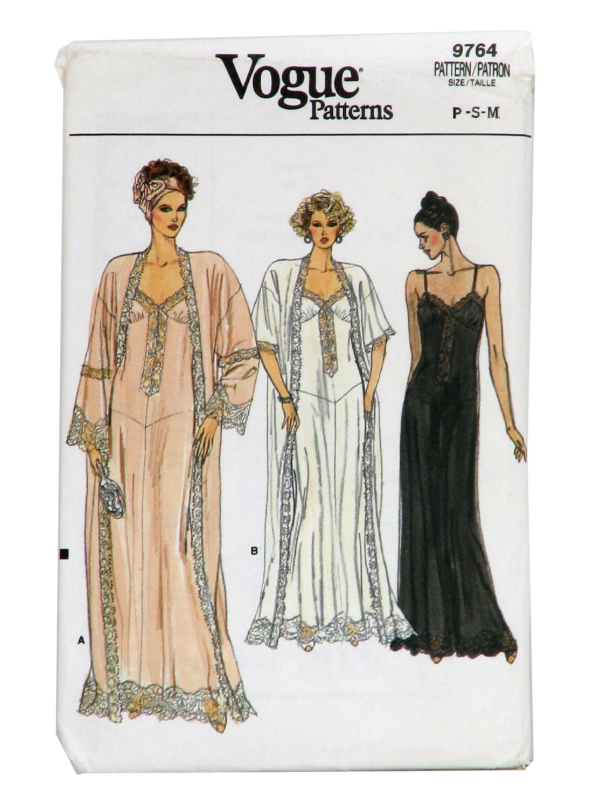Sewing patterns nightgowns choice image craft decoration ideas 1980s sewing pattern vogue pattern no 9764 1986 vogue 9764 womens sewing pattern for misses robe jeuxipadfo Gallery