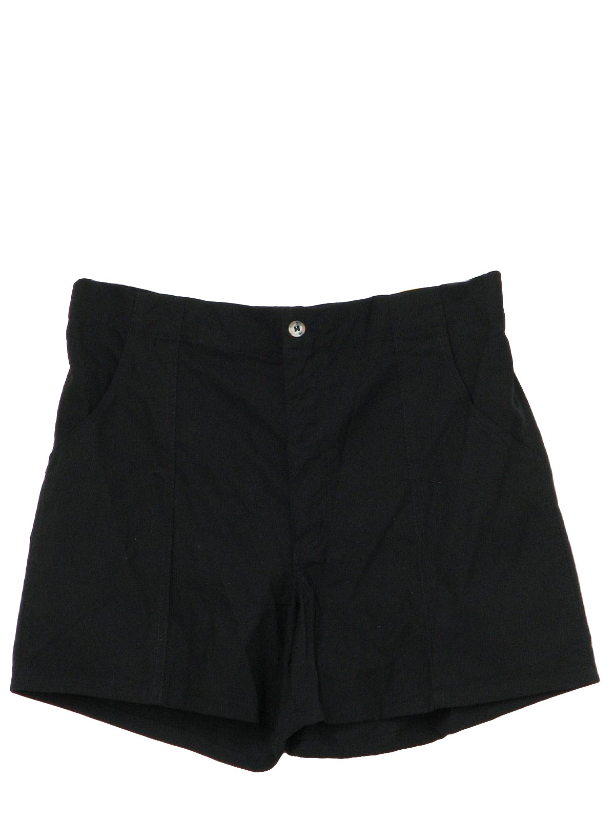 1980's Retro Shorts: 80s -Weeds- Mens black cotton poplin totally ...