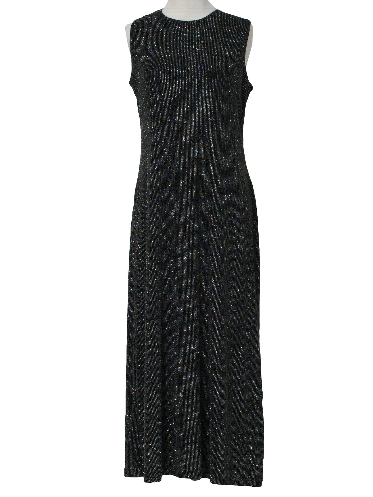 90s Retro Cocktail Dress: 90s -Ronni Nicole- Womens black and ...