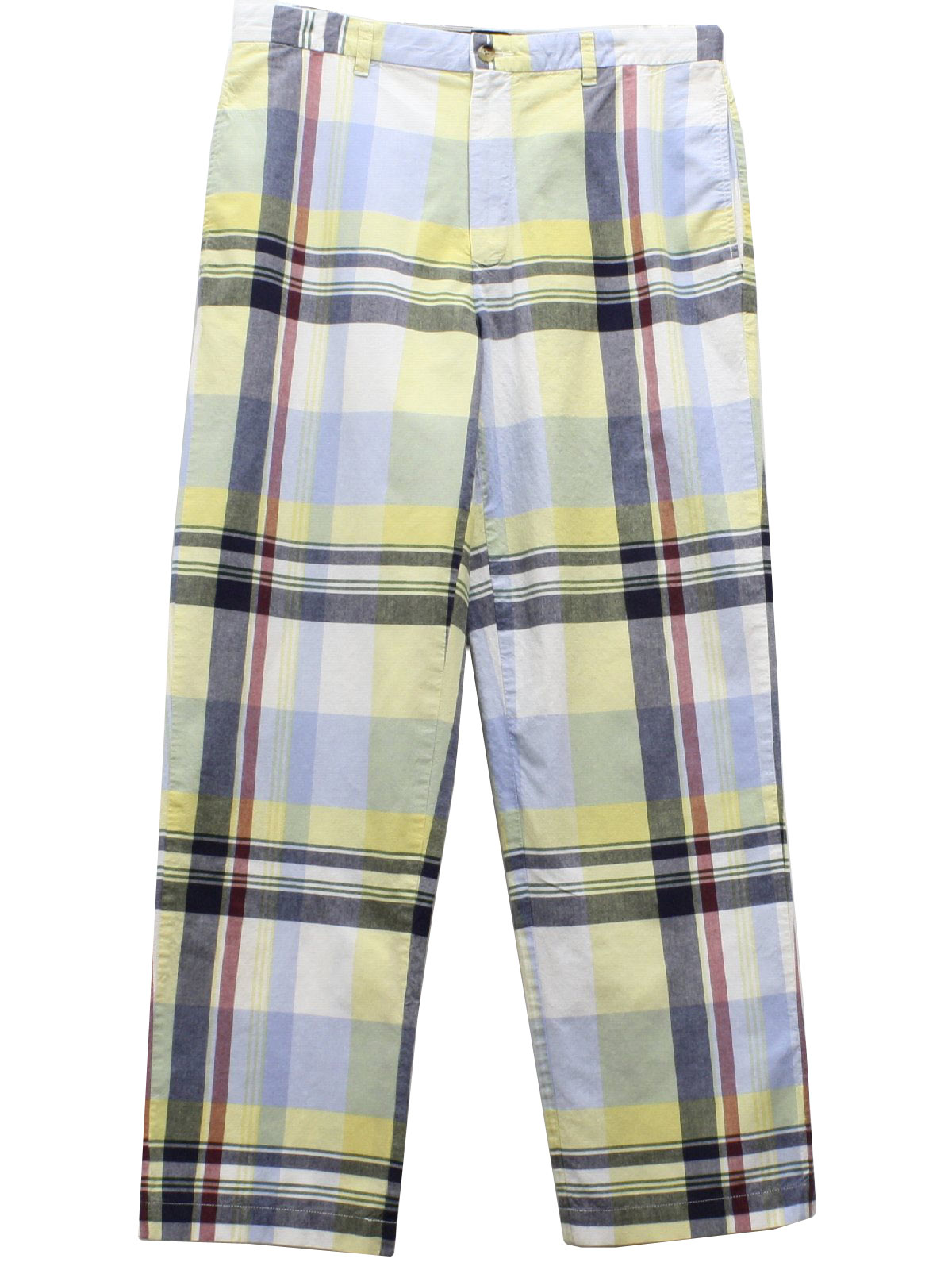 Retro 90's Pants: 90s -Tommy Hilfiger- Mens yellow, off white ...