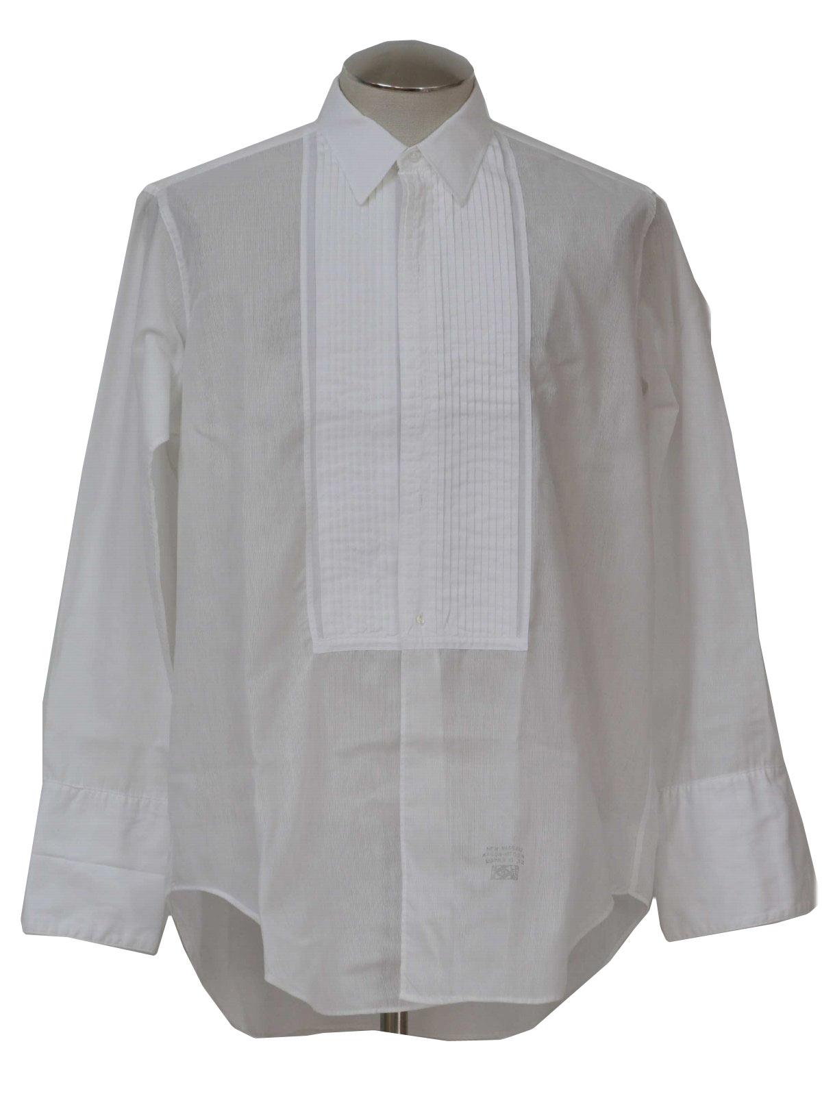 50s shirt arrow nassau sanforized 50s arrow nassau for Tuxedo shirt no studs