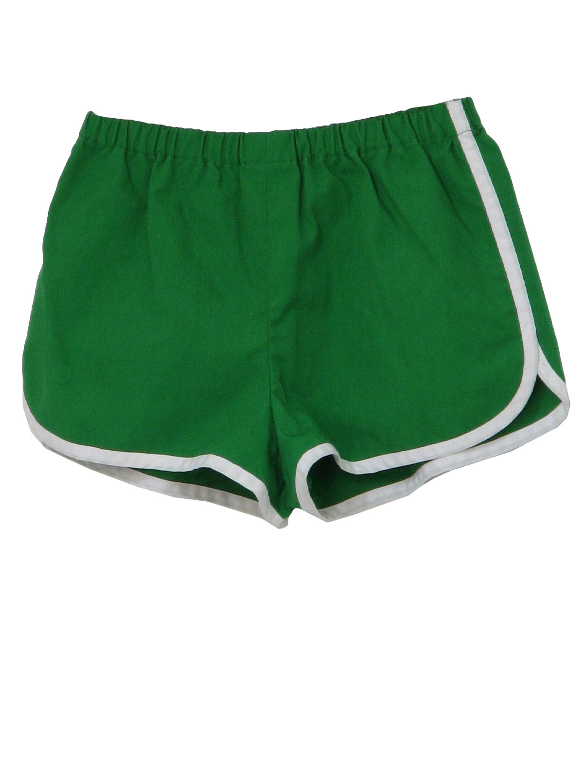 Retro Seventies Shorts 70s Missing Label Mens green and