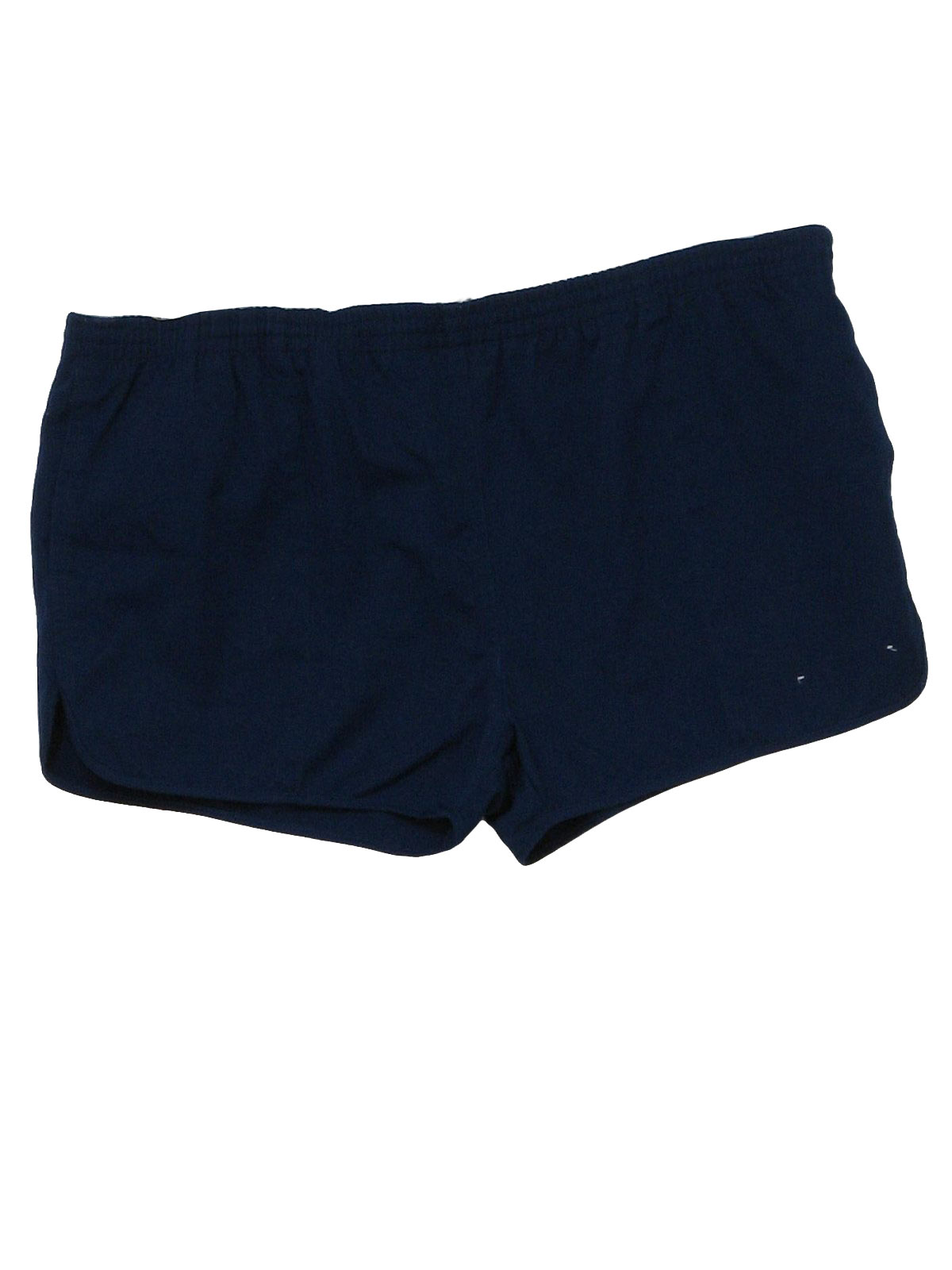 1980's Retro Shorts: 80s -Action Alive- Mens blue polyester and ...