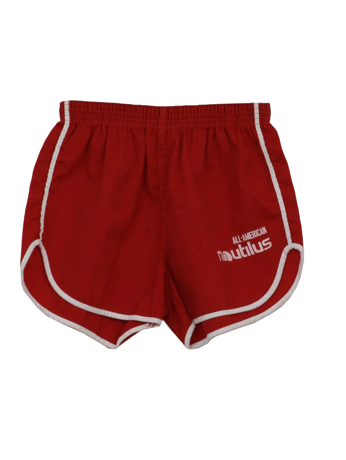 Vintage 1980's Shorts: 80s -Gym Shorts- Mens red and white ...