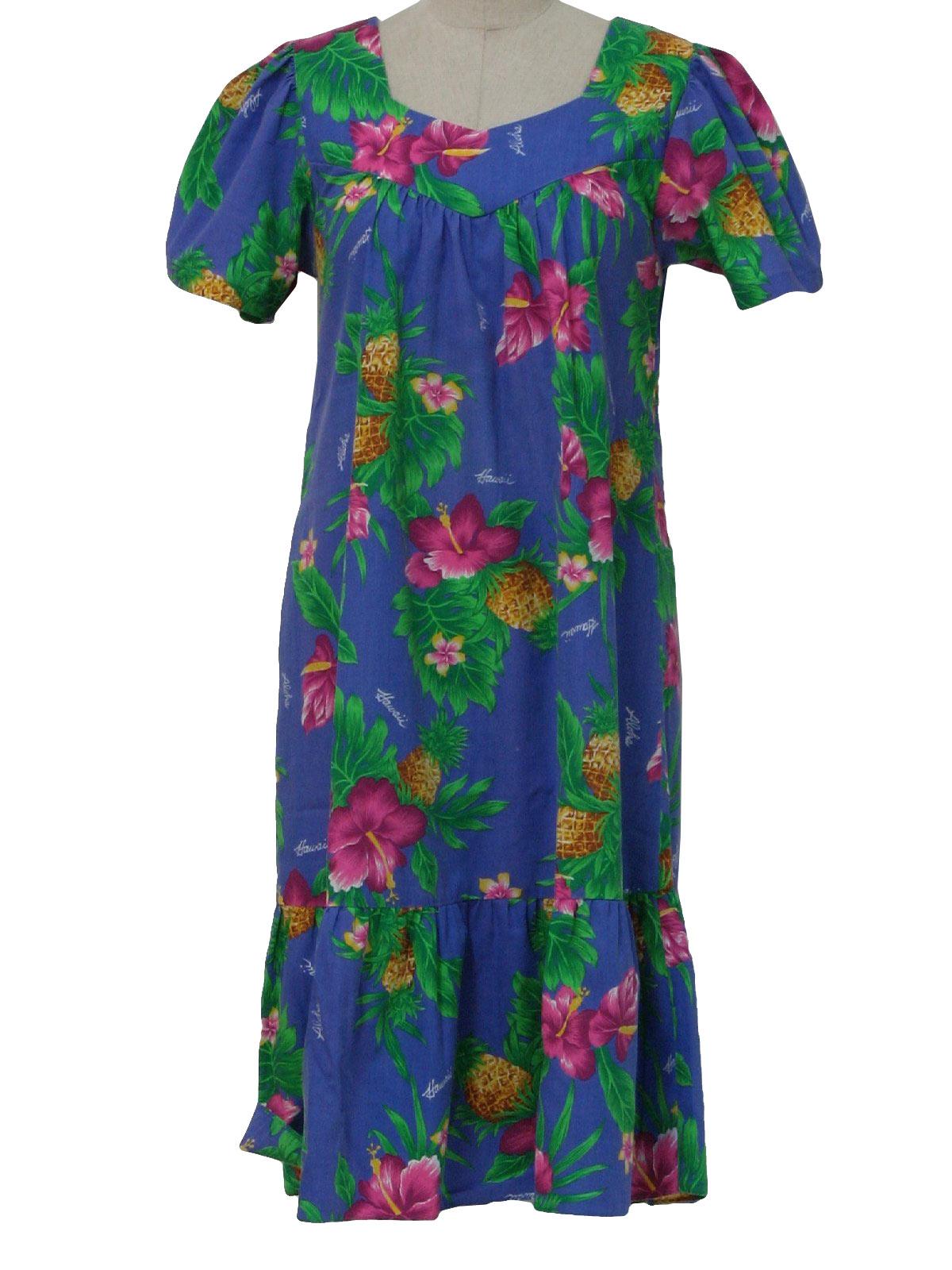 1970's Hawaiian Dress (New Horizon): 70s -New Horizon ...