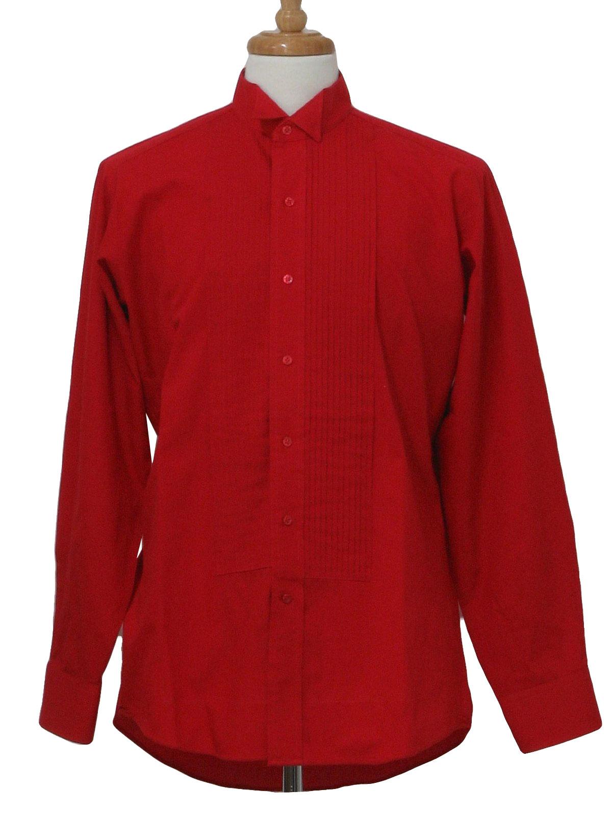 retro 80 39 s shirt 80s chaplin mens red polyester cotton