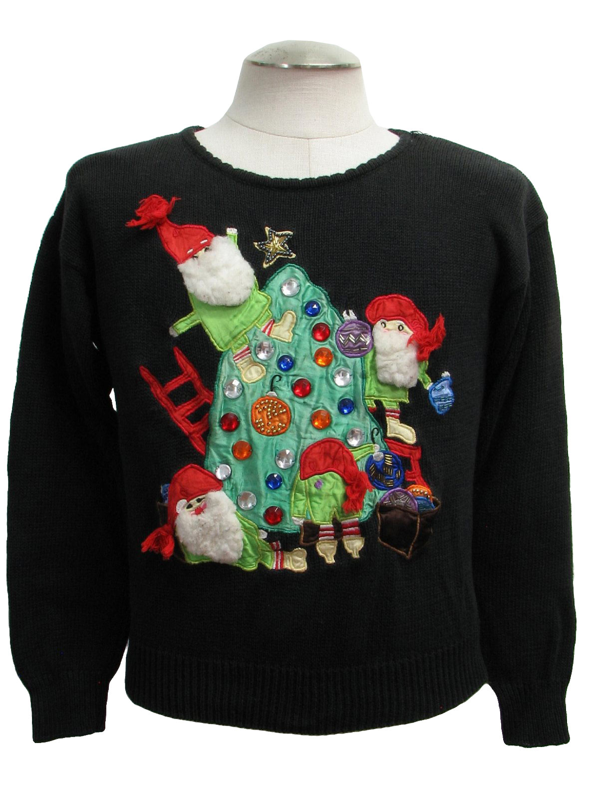 Womens Creepy Elves Ugly Christmas Sweater: -Gladys Bagley- Womens ...