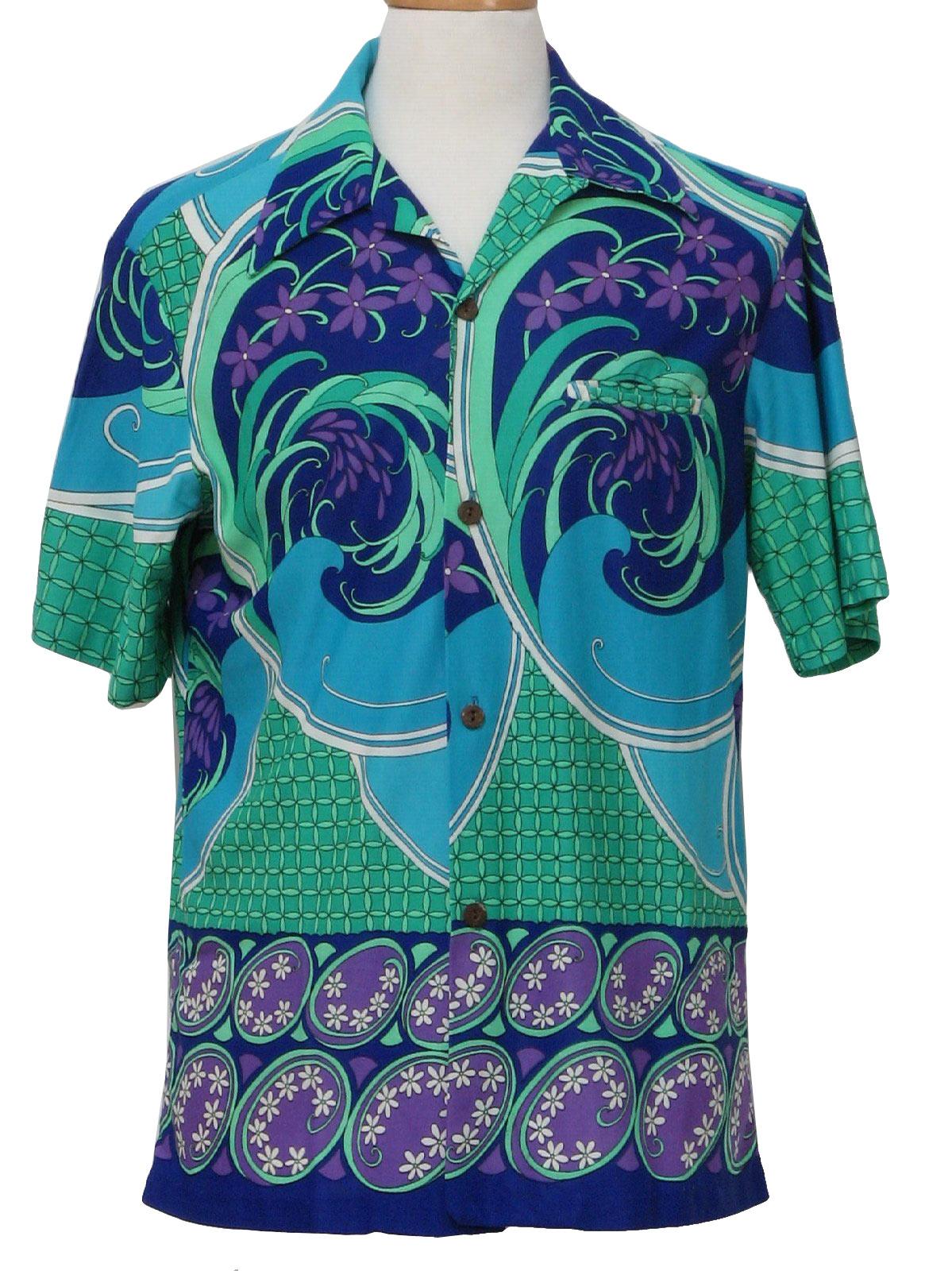 60764772 1960's Retro Hawaiian Shirt: Late 60s -Malihini, Hawaii- Mens ...