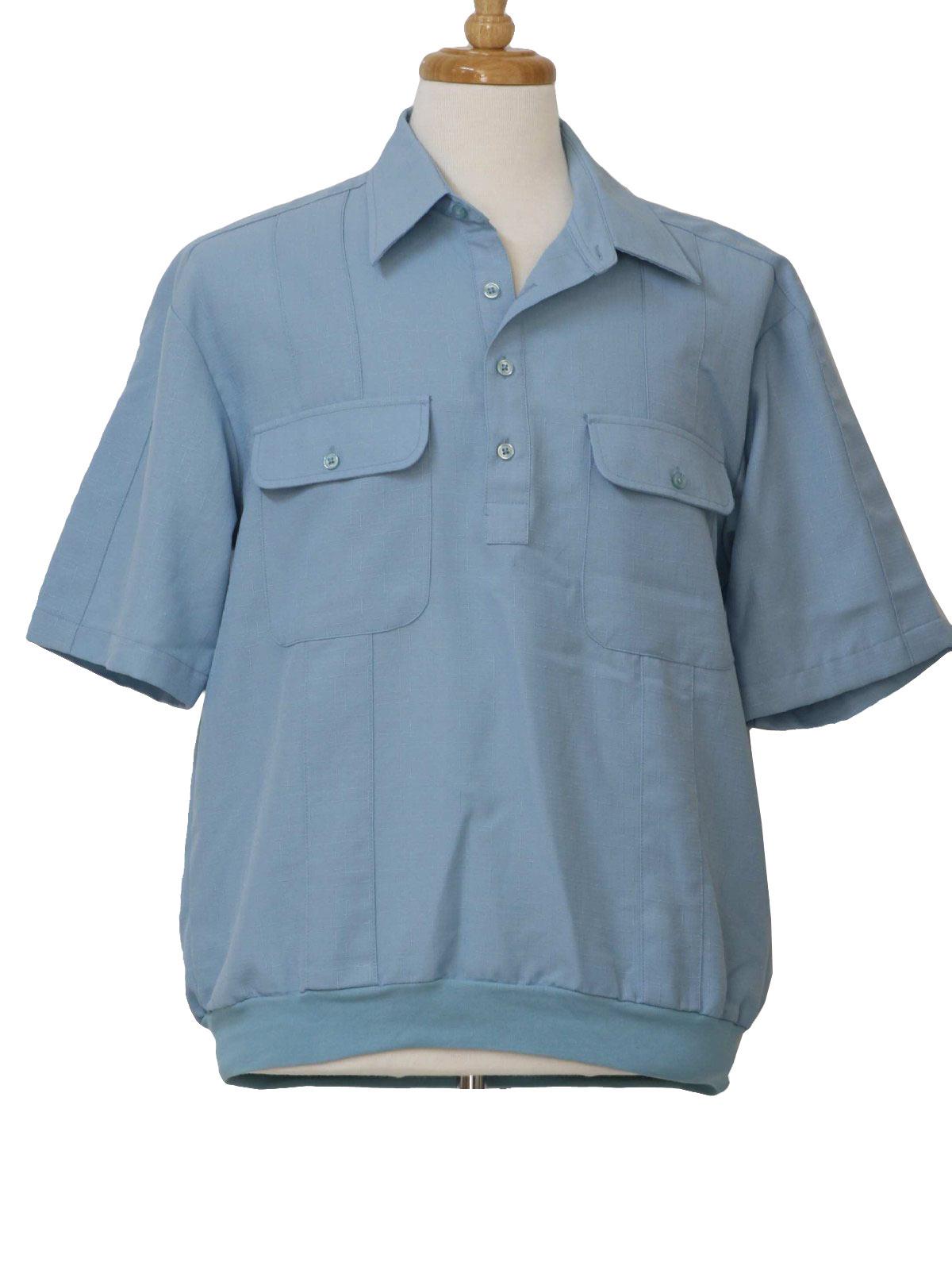 Vintage 1980 S Shirt 80s John Blair Mens Light Dusty