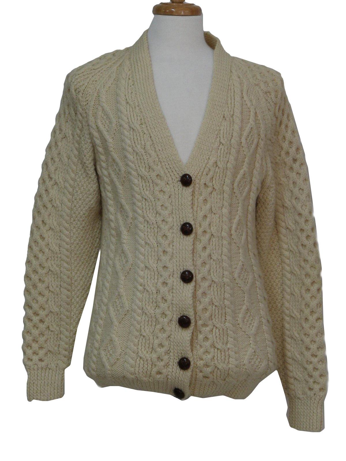 1970's Vintage Una Oniel Caridgan Sweater: 70s -Una Oniel- Mens ...